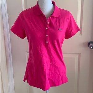 Vineyard Vines hot pink polo size medium